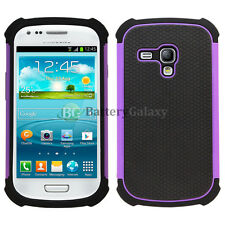 Hybrid Rugged Rubber Matte Hard Case Cover Skin for Samsung Galaxy S3 S III Mini