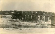 UNPOSTED DIVIDED BACK POSTCARD COMPLETED NEW RAILROAD BRIDGE FAIRFIELD ME. MCRR