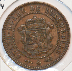 Luxembourg 1854 5 Centimes Lion animal 296095 combine shipping