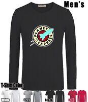 Futurama Planet Express Delivery Design Long Short Sleeves Men's Boy's T-Shirt
