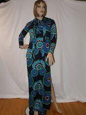 Vintage Don Luis De Espana Maxi Dress W/ Jacket-Sexy Psychedelic Hippie Mod-EUC