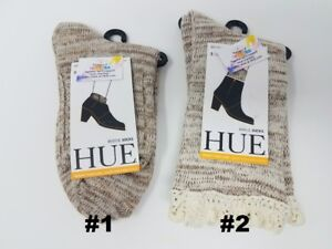 HUE Women's Space-Dyed Bootie Socks or Lace-Trim Space-Dyed Ankle Socks One Size