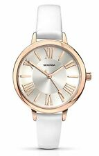 Sekonda Ladies Editions White Watch Rose Gold Tone with Silver Dial 2327