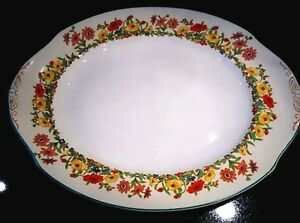 Beautiful Art Deco Grindley Ivory The Fairfield Large Oval Platter