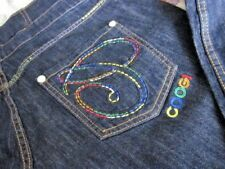 COOGI WOMENS JEANS SIZE 13/14 HIGH WAISTED RETRO JEANS FANTASTIC CONDITION