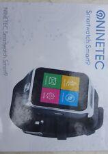 NINETEC Smart9 Bluetooth Smart Watch Armbanduhr in Silber - neuwertig