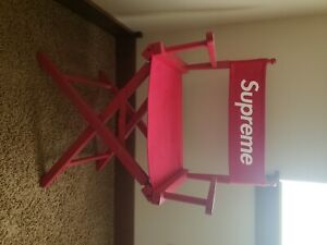 supreme directors chair red open box excellent condition