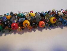 Glass Bead and Stone Bracelet, Multicolor; handmade in Guatemala; adjustable