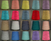 LOVELY SOFT DOUBLE KNITTING COTTON YARN *BIG 500g CONE* 10 BALL DK CROCHET WEAVE