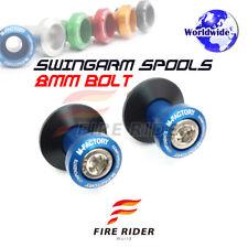 Blue CNC Swingarm Spools 8MM 2pcs For Suzuki GSX-S750 15-16 15 16