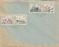 1962 East Germany cover with stamps Fishermen