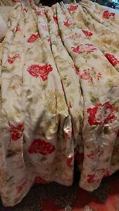 """A Laura Ashley Bespoke Fleece Interlined Door Curtain  41""""w X 84"""" D Tripple..."""