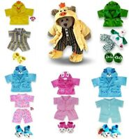 Teddy Bear Clothes fits Build a Bear PJ's Dressing Gown Slippers Bears Suitcase