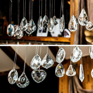 15pcs Clear Crystal Chandelier Pendants Balls Prisms Sun Catcher Crystal Prisms