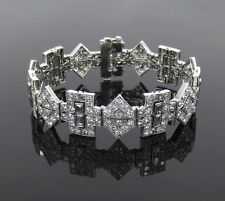Antique 15.0ct Old Cut Diamond & Platinum Filigree Bracelet