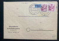 1949 Sulz Germany Allied occupation commercial Cover To Horb Tax Stamp