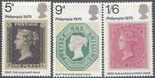 Great Britain 1970 PHILYMPIA STAMP EXHIBITION (Stamps on Stamps)(3) MNH SG 835-7