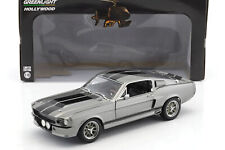 Ford Shelby Mustang Eleanor Baujahr 1967 grau metallic / schwarz 1:18 Greenlight