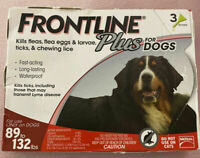 FRONTLINE Plus Flea and Tick Treatment for XL Large Dogs (89-132 Pounds) 3 Doses