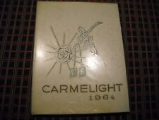 """1964 Mount Carmel High School Yearbook """"Carmelight"""" Essex Baltimore Maryland Md."""