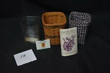 LONGABERGER JW COLLECTION MINIATURE 1997 EDITION WASTE BASKET WITH LINER  -10