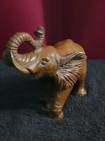 VINTAGE, Hand carved, Mill Hand 1991 Crafted Elephant Signed RED Mill 91'