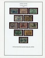 US 230-240 Columbian Exposition 1c - 50c Used F-VF 1c - 30c and Fine 50c