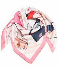 "🌸 NWT Kate Spade  Nicola Bag Toss Silk Square Scarf 100% Silk 34"" NEW $88"