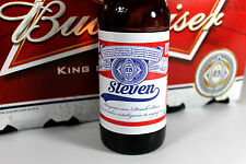 x8 Personalised Budweiser Beer Bottle Labels Novelty Birthday Christmas Gift