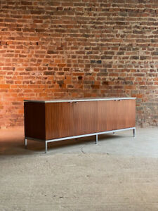 Florence Knoll Marble & Teak Credenza USA 1970s