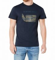 G-Star Raw Mens T-Shirt Blue Size Medium M Logo-Print Graphic Tee $35 464