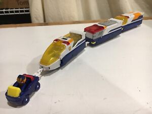 Tomy Tomica Police Rescue Blue Train with Driver RARE HyperCity 4 Car Set