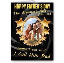Des photos personnalisées heureux pères jour, mon plus grand don est papa A5 Carte