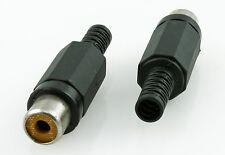 10pcs Black RCA Jack. Molded Plastic Connector 15-0249