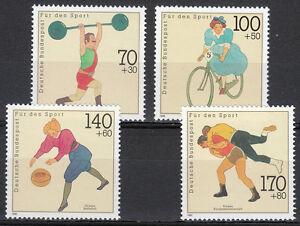 Germany 1991 Mi 1499-1502 Sc B701-704 MNH Vintage sportsmen Cycling.Wrestlin**