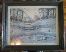 Edge Of The Woods by Tom Lotta Print in 21 x 17 Frame Lithography by Impaco