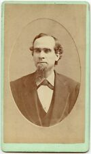 MAN WITH GREAT GOATEE AND BOW TIE ANTIQUE CDV