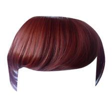 Fringe Bang Clip en extensiones de cabello rectos de cobre # 350 Delantera