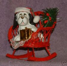 1992 Chrismas Dog on Rocker Ornament