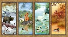 Four Seasons Wee Wild Life Panel Cotton Quilting Fabric - 60cm x 110cm - SPX