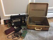 Vintage Singer 301A Sewing Machine W/Accessories & Case 1953 USA