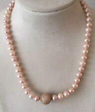 Süßwasser Perlen Kette für Wechselschliesse vorbereitet