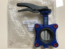 "DN65 2.5"" Butterfly Shut-off Valve (G93) PN16 water heating cooling iron wafer"