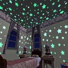 100 PCS Decoración Hogar Estrellas Pegatinas De Pared Luminoso Fluorescente