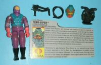1988 GI Joe Cobra Hostile Environment Toxo Viper v1 Figure w/ File Card Complete