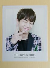 2017 Bangtan Boys BTS THE WINGS TOUR Official Ticket Album Photocard - V