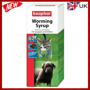 Worming Syrup Puppy Beaphar Kitten Wormer Treatment Pet, Cat, FREE post