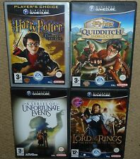 JOB LOT 4 NINTENDO GAMECUBE GAME Harry Potter Chamber Secret Quidditch Lord Ring
