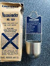Nos Vintage Craftsman Viscosimeter Sears Roebuck Viscosity Meter Painters Tool