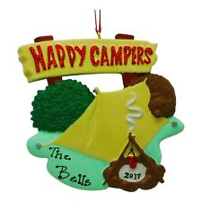 PERSONALIZED Happy Campers Tent Christmas Tree Ornament 2019 Holiday Gift